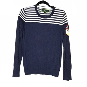 C wonder Patch navy striped sweater